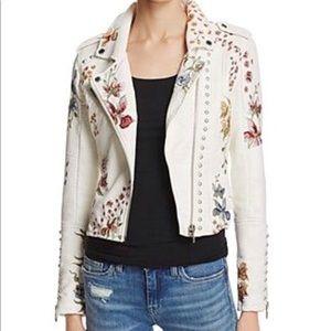 Blank NYC embellished studded motto jacket